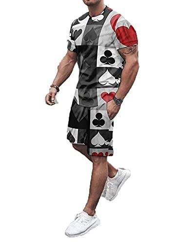 SSBZYES Camiseta Para Hombre Camiseta De Verano De Manga Corta Pantalones Cortos Camiseta Para Hombre Pantalones Cortos Tops Estampados Cuello Redondo Para Hombre Manga Corta Y Pantalones Cortos Traje