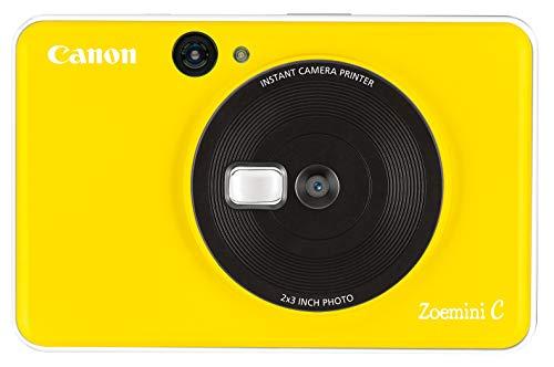 Canon Zoemini mobiele mini-fotoprinter (accu, 5 x 7,5 cm foto's, zink-drukvrij, voor mobiele telefoons iOS en Android via Bluetooth, 160 g), 5 MP Instant camera, geel