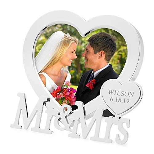 Things Remembered Personalized Mr and Mrs Heart Frame with Engraving Included