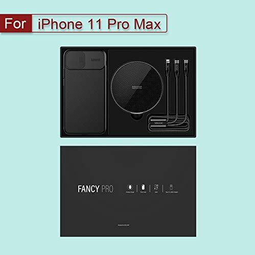 Draadloze oplader voor iphone 11/11 Pro / 11 Pro Max Kom met Wireless Charging Pad En Protector Case Back Cover,Iphone11 promax set