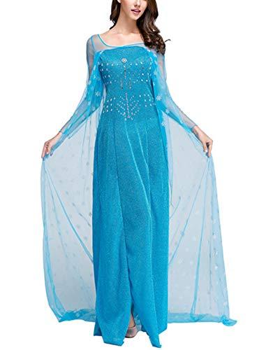 ZQZP TOP Damen Elegante Prinzessin Kleid mit Warmer Stola Pailletten-Kleid Kostüm Cosplay Kleider