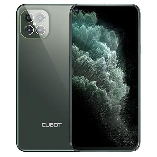 CUBOT Smartphone C30 (6,4 pulgadas FHD+ Punch-Hole, 8 GB de RAM, 128 GB de memoria, 4200 mAh, 48 MP AI Quad cámara, NFC), Android [versión alemana] (verde)