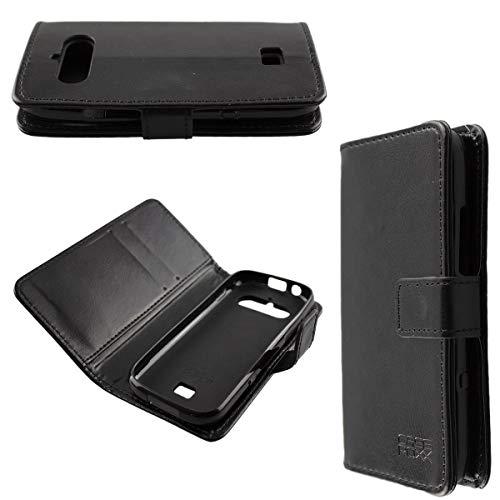 caseroxx Handy Hülle Tasche kompatibel mit Doro 730X / 780X Bookstyle-Hülle Wallet Hülle in schwarz