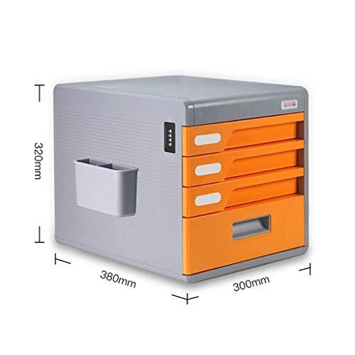 LHQ-HQ Zeitungs-Racks Paßwortsperre Desktop Schublade Sorter, Akte Zeitungsständer, Die Kunststoff-Dateistruktur Drawer Storage Cabinet Datei Box-4 Schichten (Farbe: C1) Zeitungsständer