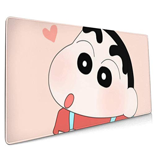 XCNGG Crayon Shin Chan Cute Cartoon Bag Gaming Mouse Pad with Edges Computer Mouse Mat Non Slip Rubber Base for Laptop Pc 15.8 X 35.5 in