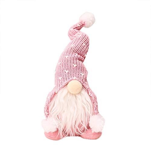 Zarupeng 1 Stück Weihnachts Puppe Weihnachten Deko Handgemachte Wichtel Figuren Mini Santa Dolls Süße Plüschtier Sitzende Weihnachtswichtel Gesichtslose Dwarf Weihnachtsmann Elch