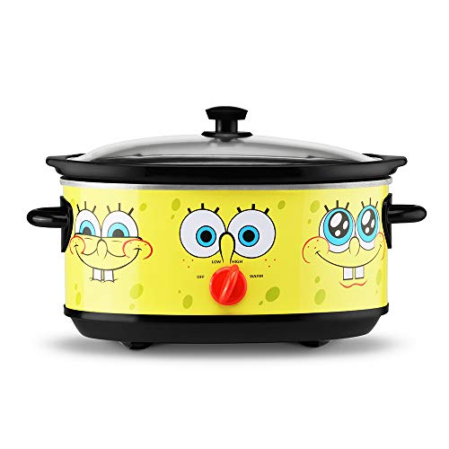 Nickelodeon NKL-71 SpongeBob Slow Cooker, 7 Quart, Yellow