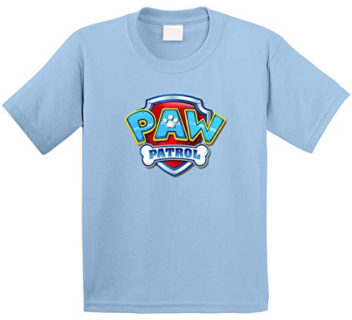 Paw Patrol T-Shirt für Kinder, Cartoon-T-Shirt, Hellblau Gr. XXL, braun