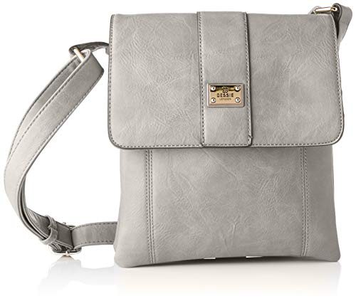 Bessie London Damen Crossbody-Umhängetasche, Grau, One Size