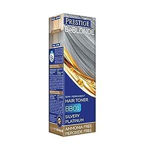 Vips Prestige - BeBlonde Tinte Semi Permanente Color Platino plateado BB01, Sin Amoniaco Sin Peroxide