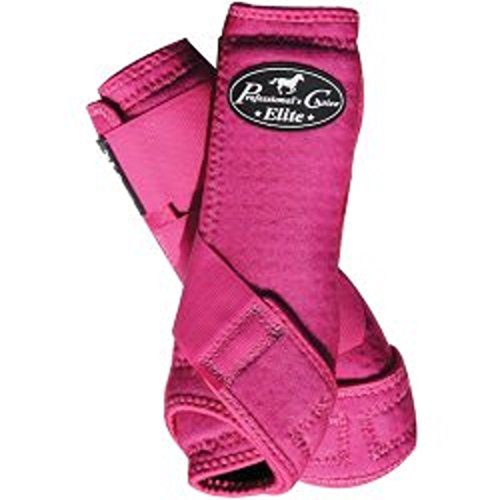Professional's Choice 4-Pack of VenTech Elite Sports Medicine Boots Front and Rear Legs Light Weight Comfortable Horse Leg Protection (Raspberry, Medium)