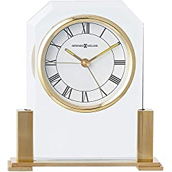 Howard Miller Paramount Table Clock 613-573 – Brass Finished with Quartz Alarm Movement