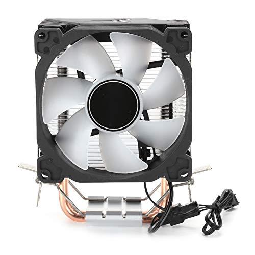 T opiky Enfriador de CPU, CR1200 12V / 95W 3Pin 2300rpm 36CF Enfriador de CPU 2 Ventiladores de enfriamiento de Torre de tubería de Calor Disipador de Calor Ventilador de enfriamiento de computadora
