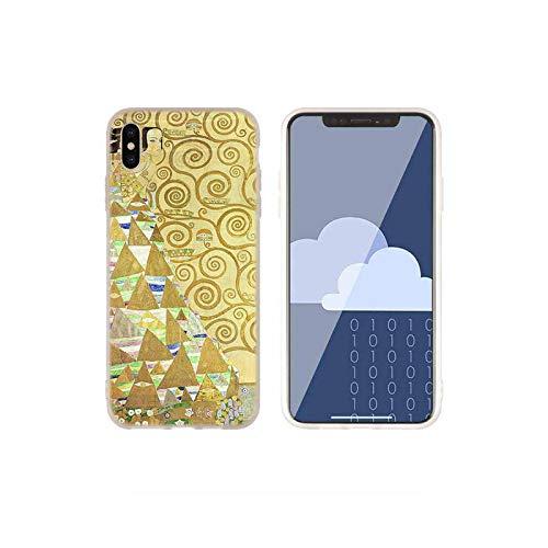 Fundas de silicona suave para iPhone 11 12 Pro X XS Max XR 6 6S 7 8 Plus 5 Mini SE 2021 Gustav Klimt art Baseus Clear-como la imagen 09-Para iPhone 6 6S