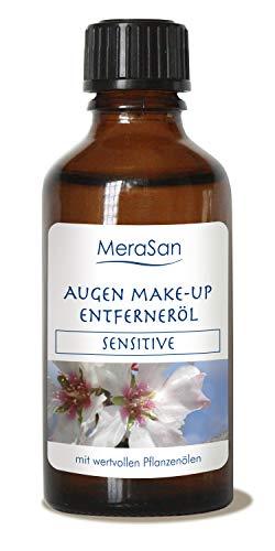 MeraSan Augen Make-Up Entferneröl, vegane Naturkosmetik mit Rizinusöl, Mandelöl und Jojobaöl - 50 ml