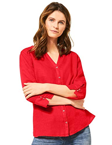 Cecil Damen 341886 Bluse, Sizzling Coral red, Large