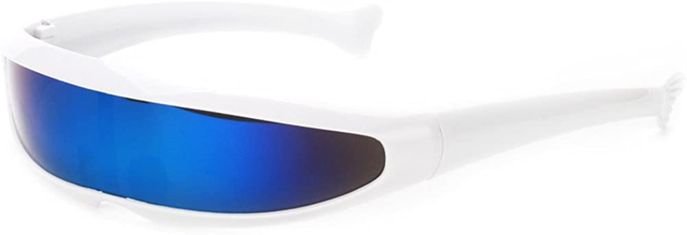 Futuristic Narrow Cyclops Sunglasses Spring new work Columbus Mall one after another UV400 Personality Mirrored