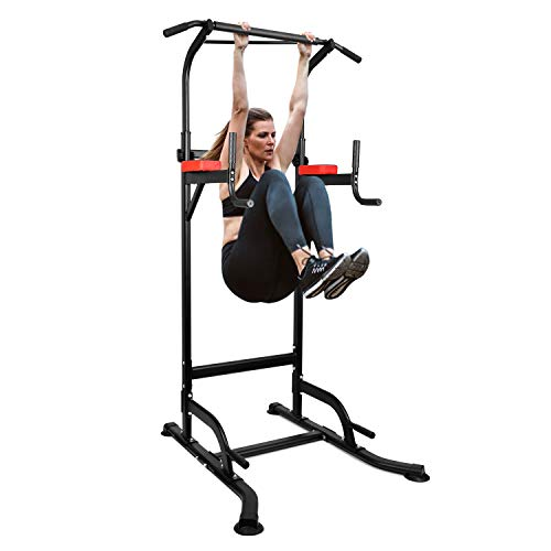 INTEY Chaise Romaine Power Tower, Tour de Musculation Multifonctions Barre de Traction, Entraîneur...