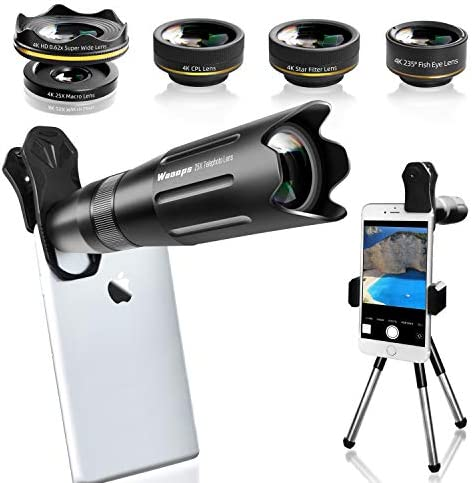 Waoops Phone Camera Lens iPhone Lens Kit 6 in 1 25X Telephoto Lens 235 Fisheye Lens 0 62X Wide product image