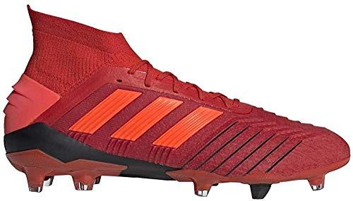 Adidas Predator 19.1 FG, Botas de fútbol para Hombre, Multicolor (Rojact/Rojsol/Negbás 000), 43 1/3 EU