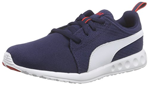 Puma Unisex-Erwachsene Carson Runner CV Laufschuhe, Blau (peacoat-white-high risk red 06), 40 EU