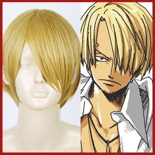 Pirate chef! Sanji wig ONE PIECE one piece cosplay heat-resistant 30cm blonde hair net with Sanji (japan import)