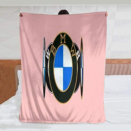 B-M-W - Manta de microfibra ultrasuave, suave y cálida, con impresión digital, manta de franela, regalo de cumpleaños, regalo de Navidad, 125 x 150 cm