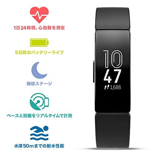Fitbit(フィットビット)『InspireHR(FB413BKBK-FRCJK)』