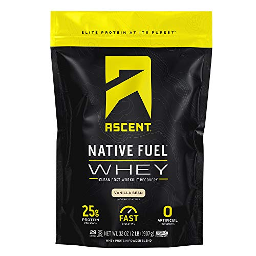 Ascent Native Fuel Whey Protein Powder - Vanilla Bean - 2 lbs
