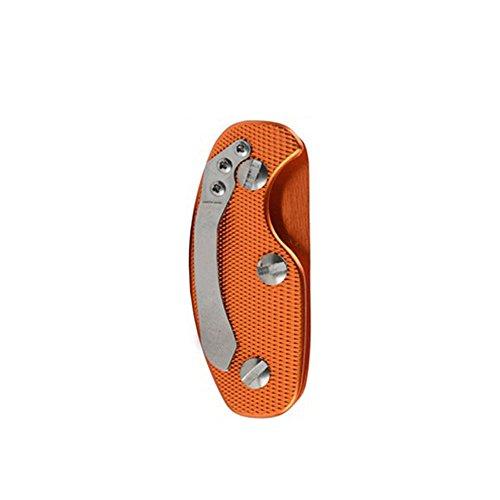 Beautyrain 1 PCS Poche portable Dossier d'agrafe d'organisateur de support de clé en aluminium Keychain Porte-clés extérieur EDC
