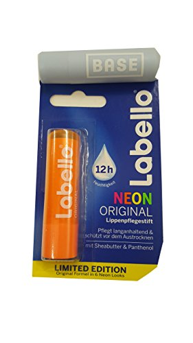 Labello (Beiersdorf) Neon ORANGE Lippenpflegestift 4,8 g.Limited Edition + Werbelippi
