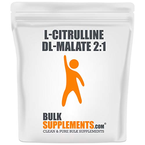 BulkSupplements.com L-Citrulline DL-Malate 2:1 - Citrulline Powder - Citrulline Malate 2 1 - Unflavored Pre Workout - Vegan Preworkout (500 Grams)