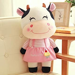 VIDANL Candice Guo! Super Q Plush Toy Lovely Happy Couple Cattle Pink Dress Tie Cow Stuffed Doll Wedding Toy Birthday 1P Must Haves Friendship Gifts The Favourite Toys