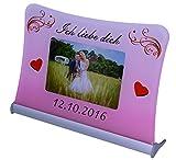 Acrylglas Schild'Ich liebe dich', mit persönlichem Fotodruck auf 6 mm Glas/personalisierbar