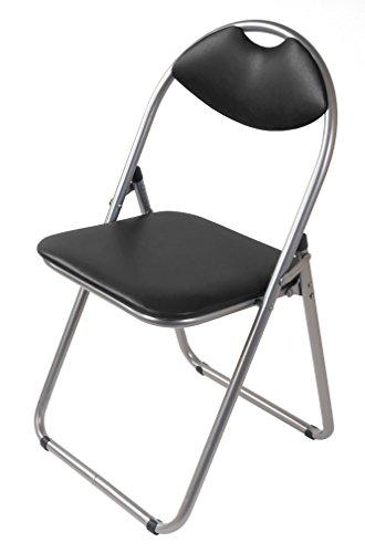 Special-trends Chaise pliante en métal m. Plastique pad noir