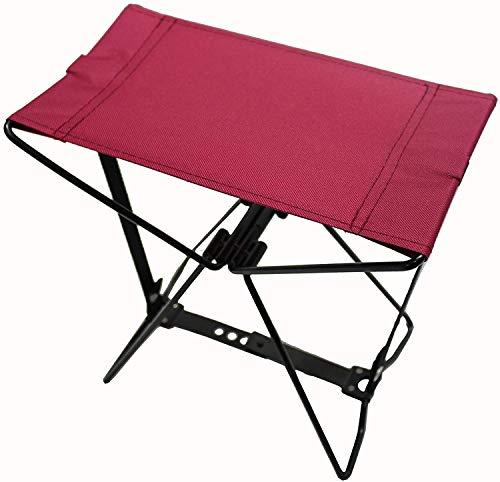 HOMECALL - Taburete de camping plegable de poliéster 600D, rojo