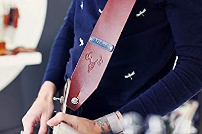 Custom Name Artisan Leather Guitar Strap