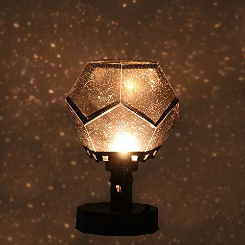 Cozyhoma LED Star Master Nachtlicht, romantische Sky Star Master Projektor-Lampe, Sternenhimmel-Projektor, Bett-Lampe für Baby Kinder Schlafzimmer, ABS, Schwarz , 1 Stpck