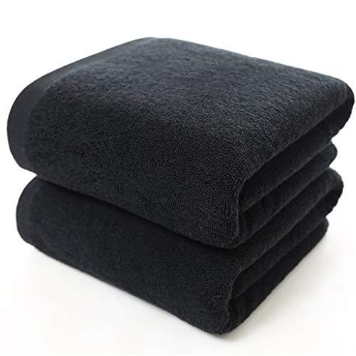 ZHUSHI-MJ Toalla de baño Grande Negra Toallas Gruesas de Ducha de algodón Toallas de baño para el hogar Hotel Adultos (Size : 34x70cm 100g)