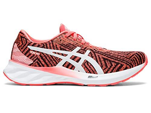 ASICS Women's Roadblast Tokyo Running Shoes, 10.5M, Sunrise RED/White