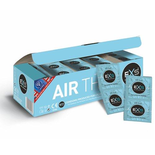 EXS Vorratspackung Air Thin, ultradünne Kondome, geschmacksneutral, transparent, 56mm, 1 x 144 Stück