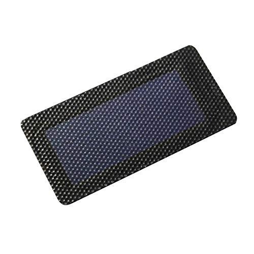 1pc 0.3W 2V Panel solar plegable a prueba de agua Panel de carga solar de celdas de batería bricolaje Membrana de silicio amorfo flexible - Negro