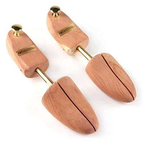 FootFitter Shoe Trees for Men, Best Full Heel Block Split Toe Aromatic Cedar Boot Tree, USA Grown Wood - PH31