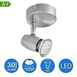 LED Deckenleuchte Schwenkbar inkl. 1-flammig Drehbar und 3W GU10 230V