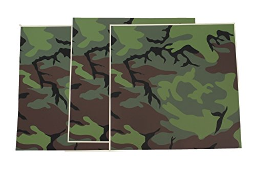 Genuine Issue USAF Helmet Camouflage Film Tape ERDL Camo Pack of 3 Sheets 12x12in