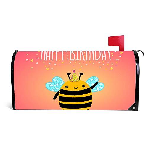 wendana Geburtstagskarte Hintergrund mit Einer Biene Briefkasten, magnetisch, Vinyl, 45,72 x 53,3 cm
