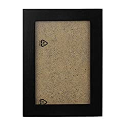 Ackful_home decor Wooden Picture Frame Wall Mounted Hanging Photo Frame (Black)