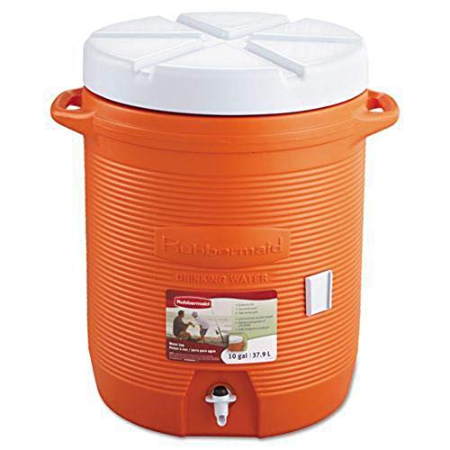 Rubbermaid RHP 1610 10 gallon Capacity, 12.5' Diameter x 15.85' Width x 20.5' Height x 19.19' Depth, Orange Color, Water Cooler