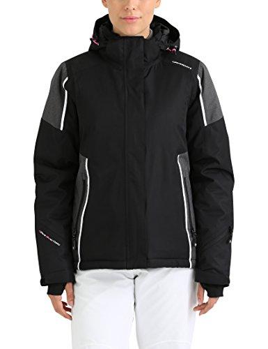 Ultrasport Advanced Ski-jack voor dames, snowboardjas, functionele winterjas voor vrouwen, met sneeuwvanger, wind- en waterdicht, ademend, Ultraflow 10.000, modieus design