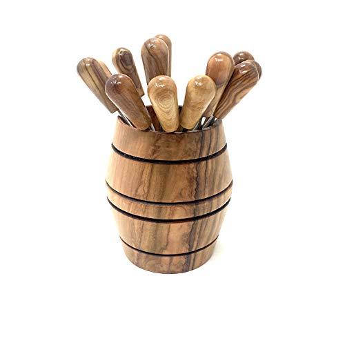 12 palitos de fiesta en madera de olivo hechos a mano en palitos de queso de Mallorca Palitos de cóctel Pinchero
